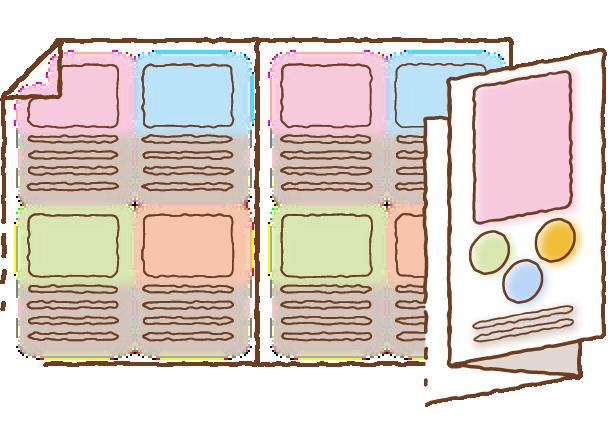 カタログ、パンフレット、リーフレットイメージ